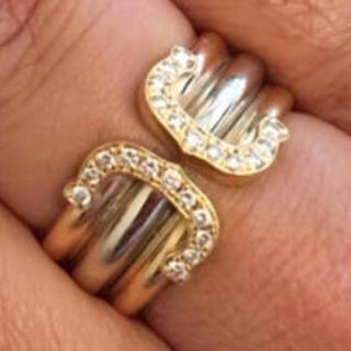 カルティエ(Cartier)のカルティエワイドダイヤモンドリング(リング(指輪))