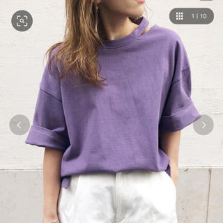 アンレリッシュ(UNRELISH)のUNRELISH カットオフビッグTシャツ パープル / MEDIUM(Tシャツ(半袖/袖なし))