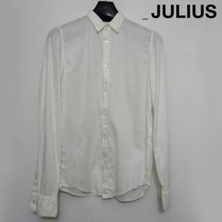 ユリウス(JULIUS)のJULIUS コットンサテン長袖シャツ 1 白 ホワイト 2008(シャツ)