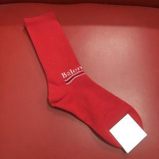 バレンシアガ(Balenciaga)のバレンシアガ ハイソックス 靴下 レッド 送料無料(ソックス)