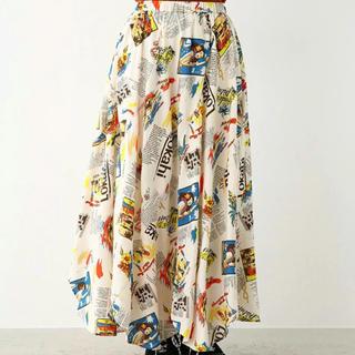ロデオクラウンズワイドボウル(RODEO CROWNS WIDE BOWL)のコミックアロハマキシスカート(ロングスカート)