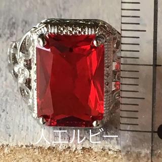 人工ルビーのリング 14号 19号 ヴィンテージ(リング(指輪))
