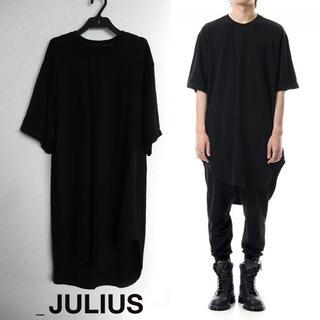 ユリウス(JULIUS)のJULIUS タックドTシャツ 1 カットソー ラウンド 半袖 2019PF(Tシャツ/カットソー(半袖/袖なし))