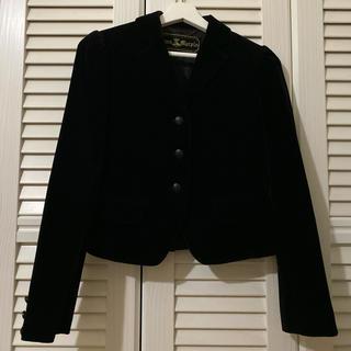 ジェーンマープル(JaneMarple)のジェーンマープル JaneMarple ロイヤル 別珍 ジャケット ブラック 黒(テーラードジャケット)