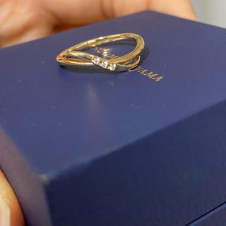 ヴァンドームアオヤマ(Vendome Aoyama)のピンキーリング(10k、石はダイヤモンド)(リング(指輪))