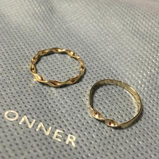 パピヨネ(PAPILLONNER)のパピヨネ   リング2個  未使用品(リング(指輪))