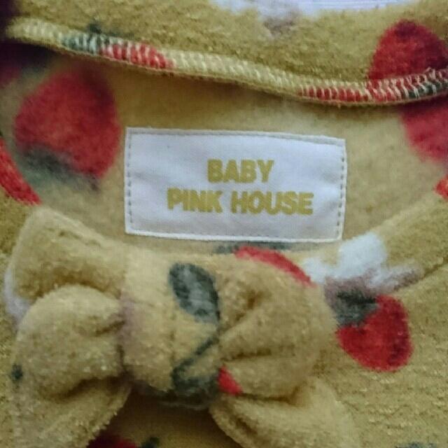 PINK HOUSE(ピンクハウス)のお値下げ☆新品☆ベビーピンクハウス☆ワンピース イチゴ柄☆サイズS(100) キッズ/ベビー/マタニティのキッズ服 女の子用(90cm~)(ワンピース)の商品写真