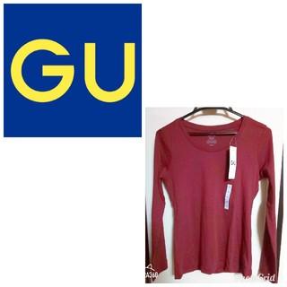 ジーユー(GU)の新品未使用 GU ジーユー Tシャツ ロンT クルーネック スリムフィット(Tシャツ(長袖/七分))
