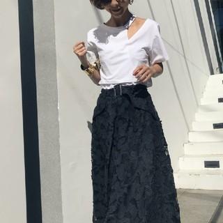 アメリヴィンテージ(Ameri VINTAGE)のAMERI   MY ELABORATE TEE【レイヤード Tシャツ】ホワイト(Tシャツ(半袖/袖なし))