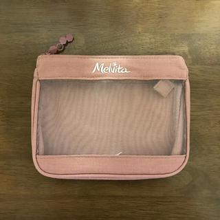 メルヴィータ(Melvita)の値下げ!メルヴィータ ピンク メッシュ ポーチ(ポーチ)
