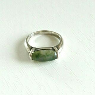 シルバーリング 苔瑪瑙(モスアゲート)石(リング(指輪))