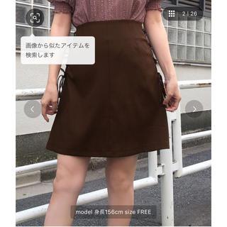 ワンアフターアナザーナイスクラップ(one after another NICE CLAUP)の♡ サイドレースアップスカート ♡(ミニスカート)