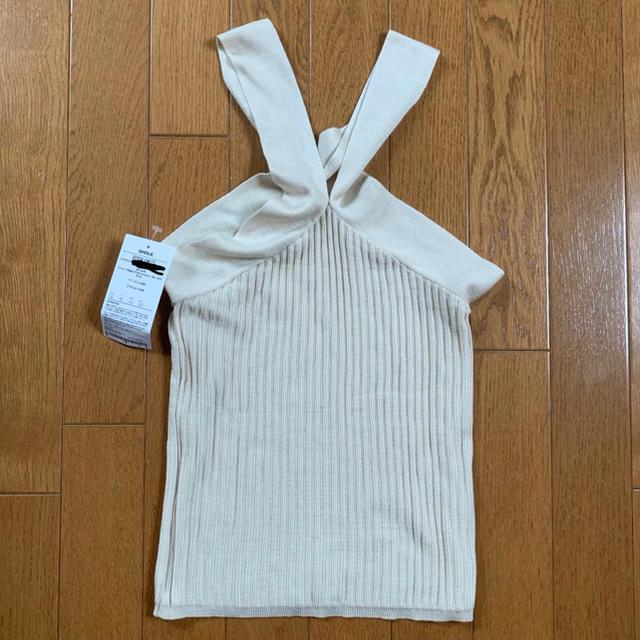 dholic(ディーホリック)のクロスネックリブスリーブレス レディースのトップス(カットソー(半袖/袖なし))の商品写真