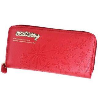 サンリオ(サンリオ)の【新品】ハローキティ★ラウンド長財布(HK63-11)ウォレット(赤)サンリオ(財布)