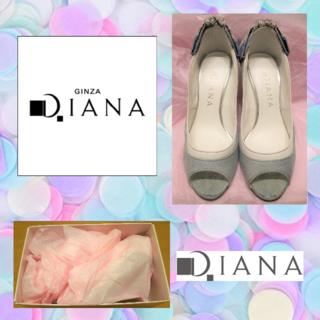 ダイアナ(DIANA)のDiana ダイアナ 飾り付き オープントゥ パンプス 22cm(ハイヒール/パンプス)
