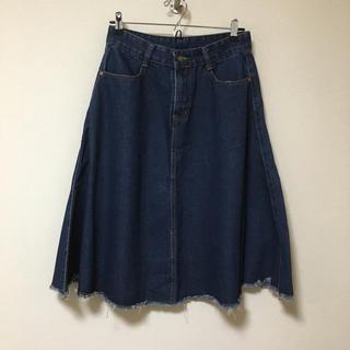 美品♡デニムフレアースカート(ひざ丈スカート)