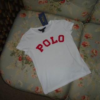 ラルフローレン(Ralph Lauren)の新品☆ラルフローレン POLO Tシャツ 140  白&ピンク (Tシャツ/カットソー)