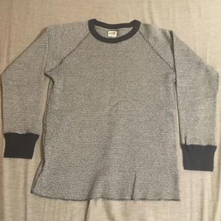 テンダーロイン(TENDERLOIN)のテンダーロイン サーマル ロンT Tシャツ カットソー ブラック 黒 Sサイズ(Tシャツ/カットソー(七分/長袖))