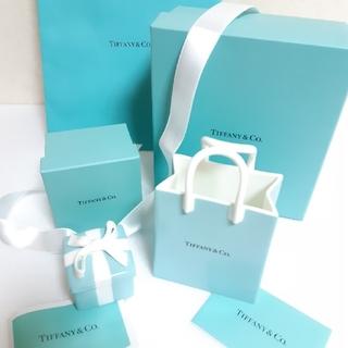 ティファニー(Tiffany & Co.)のティファニー ショッピング バッグ オーナメント ミニ ブルー ボウ ボックス(小物入れ)