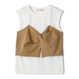 ローズバッド(ROSE BUD)の(新品未使用) ローズバッド ビスチェ風tシャツ(Tシャツ(半袖/袖なし))