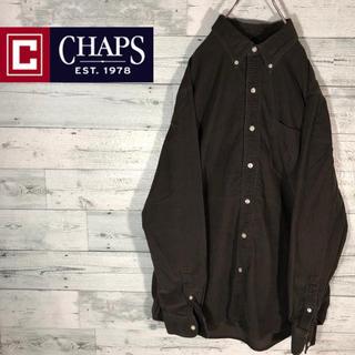 CHAPS - 【激レア】チャップスCHAPS☆ワンポイント刺繍コーデュロイシャツM0482