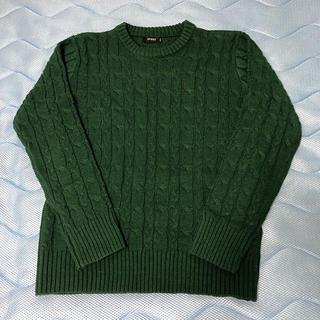 スピンズ(SPINNS)のセーター(カーキ)(ニット/セーター)