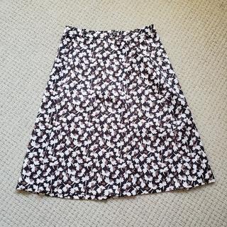 ローラアシュレイ(LAURA ASHLEY)の[Laura Ashley/ローラアシュレイ]花柄見えAラインスカート(ひざ丈スカート)