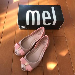 メリッサ(melissa)の【サイズ32・20cm】mel メリッサ ガールズ サンダル ピンク×リボン(サンダル)