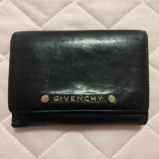 ジバンシィ(GIVENCHY)のGIVENCHY 二つ折り財布 レザー ブラック(財布)