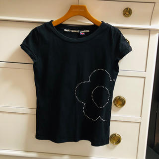 マリークワント(MARY QUANT)のマリークワント❤︎Tシャツ 黒 デイジー 白のスタッズ(Tシャツ(半袖/袖なし))