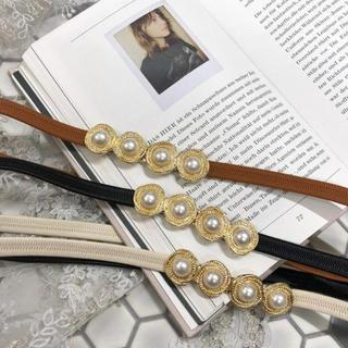 ワンアフターアナザーナイスクラップ(one after another NICE CLAUP)のmellowneon ❤︎ pearl pearl belt(ベルト)