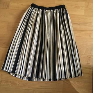 デミルクスビームス(Demi-Luxe BEAMS)の〈新品タグ付き〉ストライプ チュールスカート プリーツスカート(ひざ丈スカート)