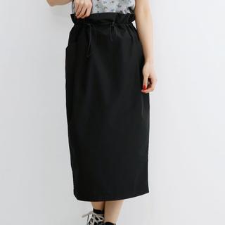 メルロー(merlot)のmerlot /  ウエストギャザードロストスカート(ひざ丈スカート)