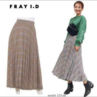 フレイアイディー(FRAY I.D)のフレイアイディー チェックプリーツスカート(ロングスカート)