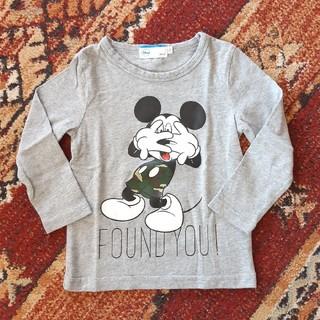 ミッキーマウス(ミッキーマウス)のミッキーロンT(サイズ100㎝)(Tシャツ/カットソー)