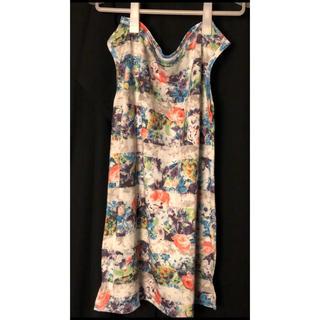 ルシェルブルー(LE CIEL BLEU)のルシェルブルー 花柄ボーダーT(Tシャツ(半袖/袖なし))