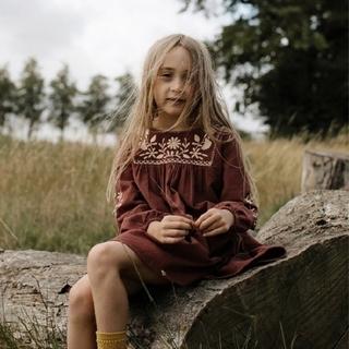 キャラメルベビー&チャイルド(Caramel baby&child )の新品 APOLINA FRANCOISE CORD DRESS- BUCKTHO(ワンピース)