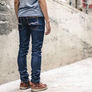 Nudie Jeans - Nudie Jeans THIN FINN Org. Dry Ecru Embo