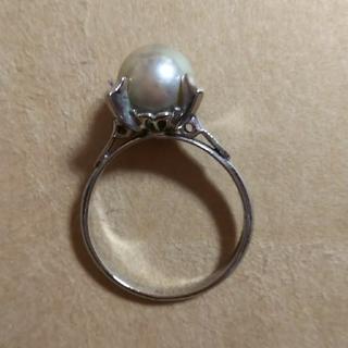 《値下げ》8ミリ真珠リング シルバー(刻印あり)(リング(指輪))