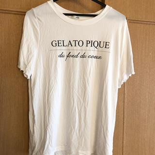 ジェラートピケ(gelato pique)のジェーラトピケ  Tシャツ  白 フリーサイズ(Tシャツ(半袖/袖なし))