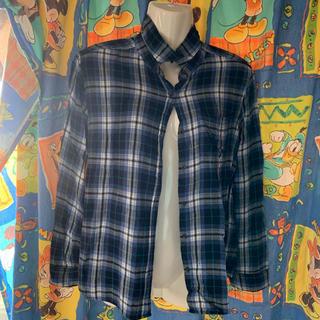 ジーユー(GU)のチェックのシャツ(シャツ/ブラウス(半袖/袖なし))