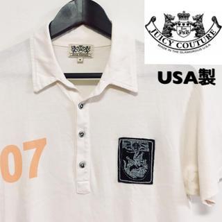 ジューシークチュール(Juicy Couture)のJUICY COUTURE☆ポロシャツ☆オフホワイト☆USA製☆(ポロシャツ)