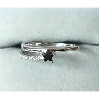 スタージュエリー(STAR JEWELRY)のK18WG ブラックダイヤ他(スタージュエリー16号)(リング(指輪))