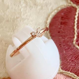 ヨンドシー(4℃)の4°C  k10 ダイヤ ❤️ リング(リング(指輪))
