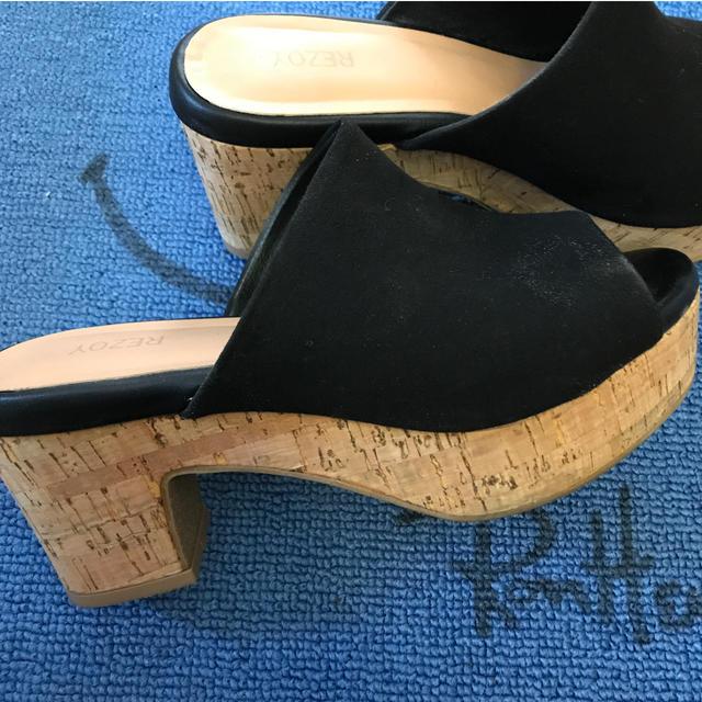 SLY(スライ)のブラック コルク サンダル レディースの靴/シューズ(サンダル)の商品写真