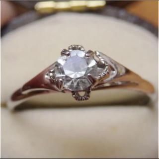 即購入OK♡V072昭和レトロなシルバーカラーリングヴィンテージ指輪(リング(指輪))