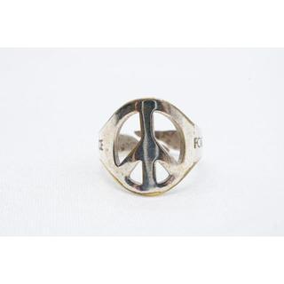 【R-639】PEACE ピース 透かし デザイン リング 指輪 11号から(リング(指輪))