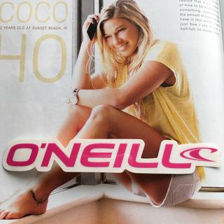 オニール(O'NEILL)のO'NEILLオニールUS限定激レア型抜きロゴアイコンステッカーpink(サーフィン)