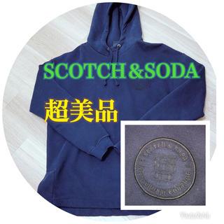スコッチアンドソーダ(SCOTCH & SODA)のSCOTCH&SODA パーカー メンズ ネイビー 冬用(パーカー)