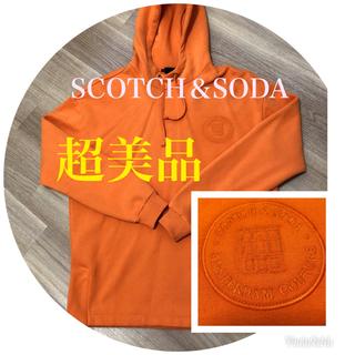 スコッチアンドソーダ(SCOTCH & SODA)のSCOTCH&SODA パーカー メンズ オレンジ 冬用(パーカー)